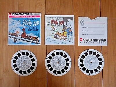 """Scooby Doo In """"that's Snow Ghost"""" Viewmaster Reels 1972 Set B553 Rare   (421)"""