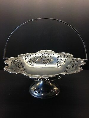 Daniel And Arter  silver plated Vintage fruit basket/ Cake Stand With Handle