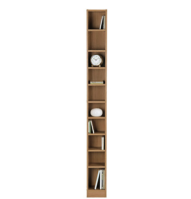 Maine Tall CD And DVD Media Storage Tower - Oak - Books Shelves Wooden Unit Rack