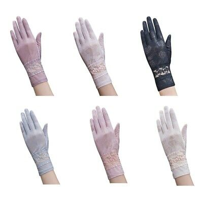US Summer Women Wedding Anti UV Gloves Cycling Driving Sun Protection Mittens