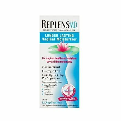 Replens MD plus durable vaginal hydratant - 12 Applications 1 2 3 6 12 packs