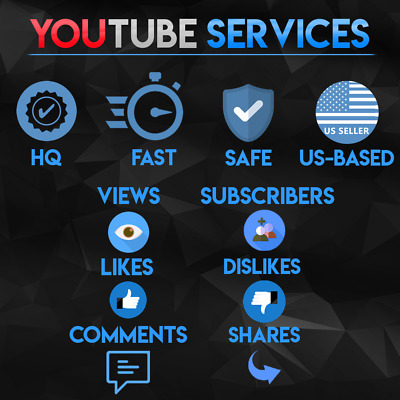 PREMIUM Youtube Services - Viêws - Likês - Dislikês - Commênts - Sharês - Subs