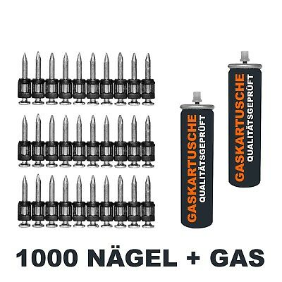 1000 Nägel + Gas f. Spit Pulsa 700P o. 700E 700 17, 19, 22, 25, 27, 32mm