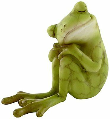 Frog Resting Miniature Statue (4341) NEW 2.0 Inches Long 1.75 Inches Tall