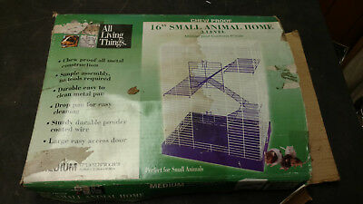 "New All Living Things Chew Proof 16"" Small Pet Animal Home 3 Level"