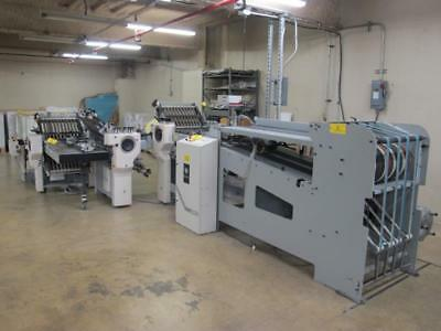 Baum 20 4/4/4 Continuous Feed Folder with HHS-C20 Cold Glue
