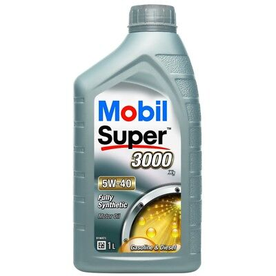 Mobil Super 3000 X1 5W-40 Fully Synthetic 1L Car Engine Oil Lubricant 151165