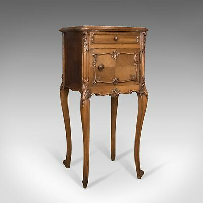 Antique Bedside Cabinet, French 19th Century, Marble Top Pot Cupboard Circa 1890