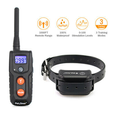 Petrainer Dog Training Shock Collar Rechargeable Electric Remote Bark Collar
