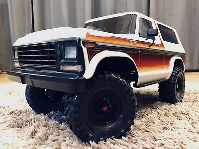 NEW TRAXXAS TRX-4 BRONCO Body CUSTOM Painted (Body Bumpers Wheels Tires  only)