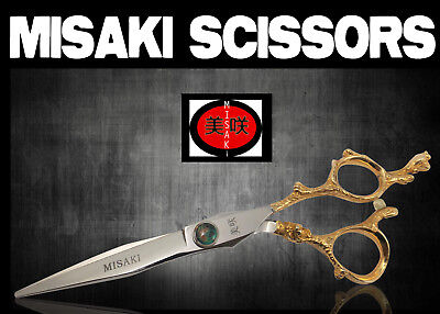 Hairdresser Hair Scissors Gold Handle  6.0  Misaki with cloth, and case CJ90