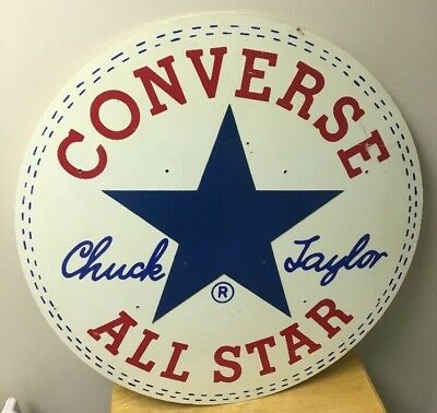 Vtg Converse Chuck Taylor All Star Store Display Shoe Sign Huge Advertising 30""