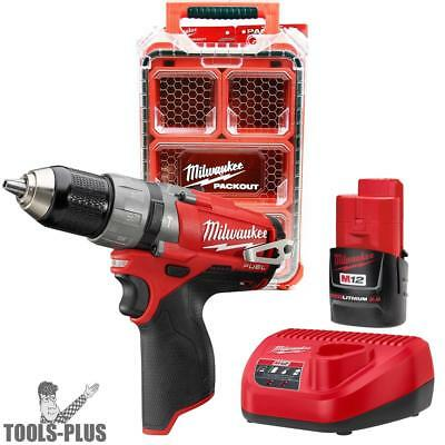 Milwaukee 2404-21P M12 FUEL Hammer Drill Kit Free PACKOUT Case New