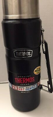 Thermos King Stainless 40 Oz Vaccum-Insulated Food/beverage Bottle Tumbler Black