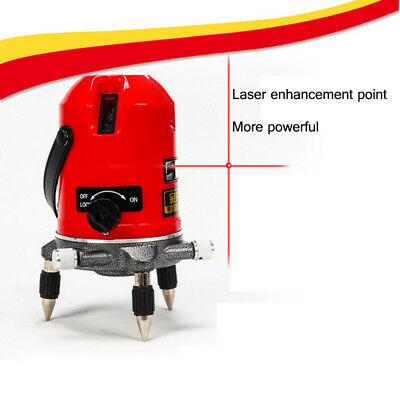 Automatic 5 Line 6 Points Self Leveling 360° Rotating Laser Level Meter Measure