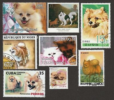 POMERANIAN ** Int'l Dog Postage Stamp Collection ** Great Pom Gift Idea**