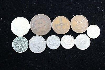 Portugal 10 assorted coins   lot H 673