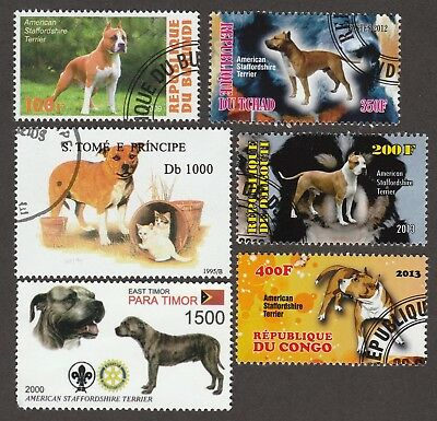 AMERICAN STAFFORDSHIRE TERRIER**Int'l Dog Stamp Collection**Great Gift Idea