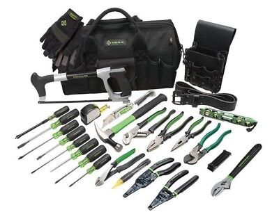 Greenlee 0159-11 Electrician's Tool Kit, 28-Piece, NEW IN BOX & FREE SHIPPING!