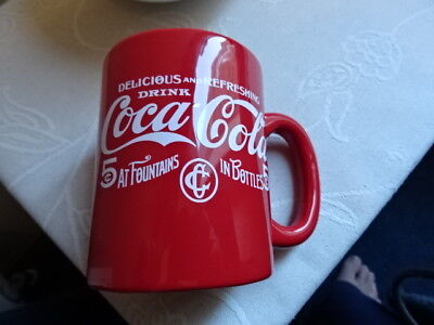 coca cola red mug  Hard to find NEW Official Coke from USA 5 cent