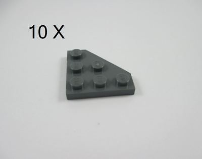 LEGO Lot of 12 Dark Bluish Gray 3x3 Plate Pieces