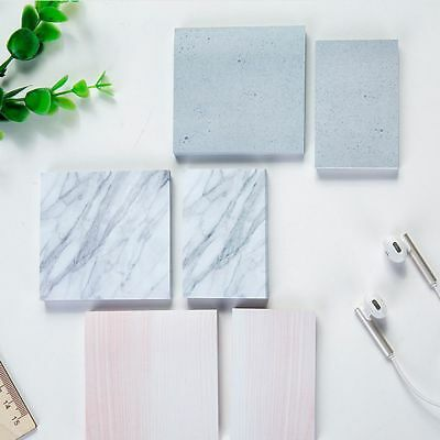 Rectangle Sticky Tearable Notebook Sticky Notes Memo Pad Marble Texture