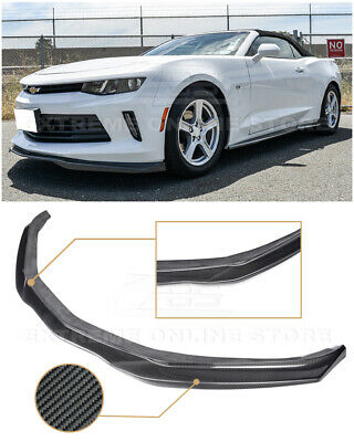 EOS T6 Style CARBON FIBER Front Bumper Lower Lip Splitter For 16-Up Camaro RS V6