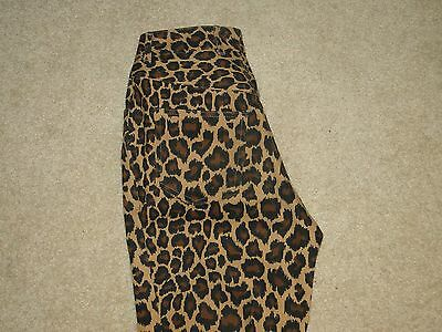 Vintage Dead Stock Bentley Arbuckle Women's Jeans Leopard Print Denim Pants Sz.6