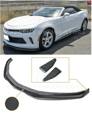 EOS T6 Style CARBON FIBER Front Lower Lip Splitter End Caps For 16-Up Camaro RS