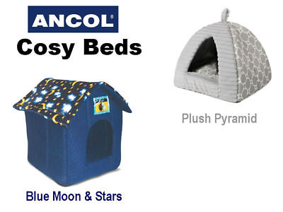 New Ancol Pet Bed Kitten Cat Puppy Dog Indoor House Plush Pyramid