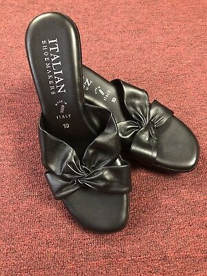 6e1fe3d6f85 Like us on Facebook · italian shoemakers Style wedge sandals black color  New size 10