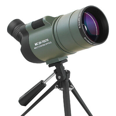 25-75X70 Angled Spotting Scopes Waterproof Astronomical Telescope With Tripod