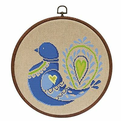 Embroidery Hoops Cross Stitch Hoop Ring Imitated Wood Circle Set Display Fram R1