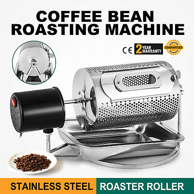 AU Electric Coffee Bean Roaster Home Machine Baking Roasting Dry + Tray 220V