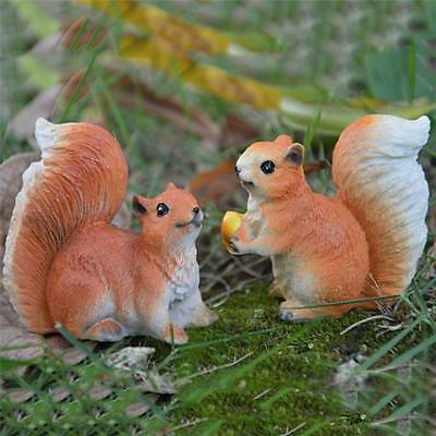 Squirrel Garden Statue Home Decor Lawn Patio Yard Ornament Figurine Outdoor Art