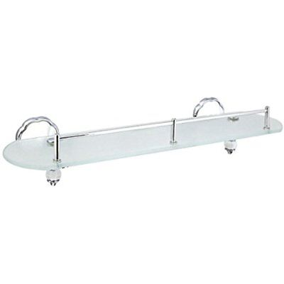 20 Bathroom Shelves Frosted Glass Shelf With Pre Installed Rail