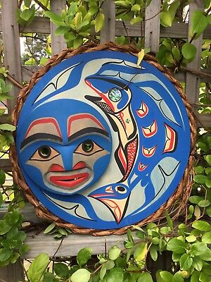 First Nations Northwest Coast Salmon Moon Mask