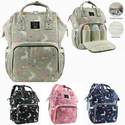 LEQUEEN Multifunctional Baby Nappy Diaper Bag Fashion Mummy Changing Backpack
