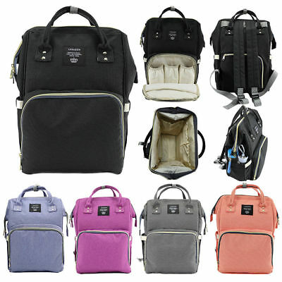 LEQUEEN Nappy Baby Bags Diaper Mummy Bag Multifunction Travel changing Backpack