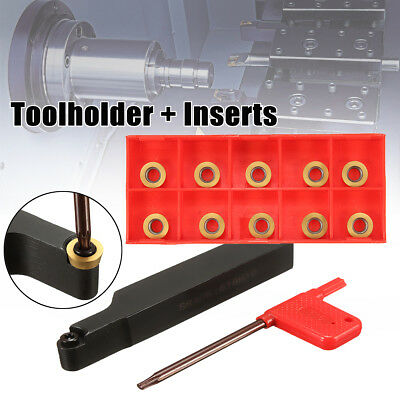 Face Milling External Lathe Blade Holder Boring Bar + Inserts + Wrench Set Tool