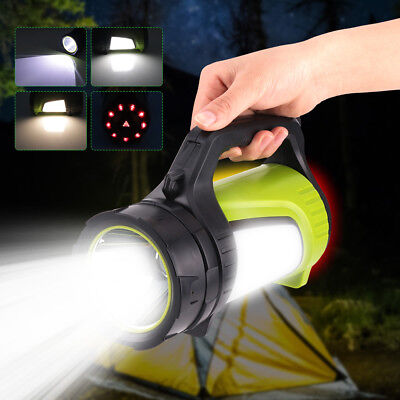 Rechargeable Searchlight Handheld Portable Spotlight LED Flashlight Hunting Lamp