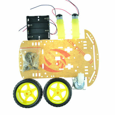 New 4WD 2WD Robot Smart Car Chassis Kits Speed Encoder 65x26mm Tire for Arduino