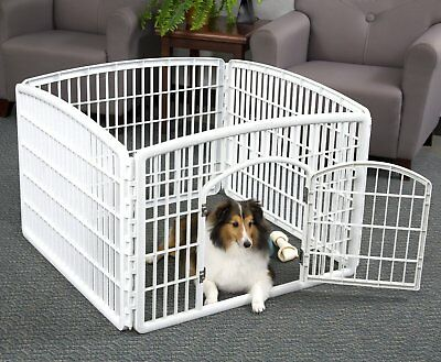 IRIS Large Indoor Outdoor Dog Pet Playpen Exercise Puppy Cat Rabbit Cage Fence