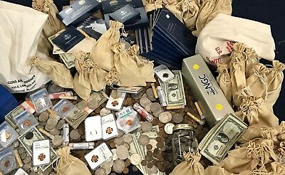Huge Estate Hoard of Coins & Currency GOLD SILVER NGC Graded Coins + Much MORE