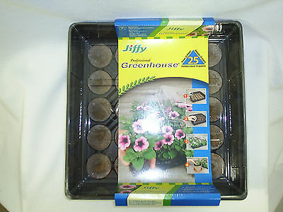 Jiffy Professional Greenhouse 25 Pellets Base Clear Dome New