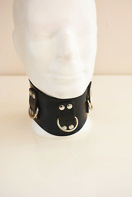 BlackRuBB Latex Halsband 8cm L-XL Rubber Bondage Collar Harness Maske Anzug Mask