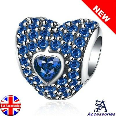 Pandorina Heart Charm Bead CZ Crystal 925 Silver Mother Daughter Girls Wife Gift
