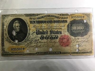 1900 $10,000 U.S. Cancelled Gold Certificate