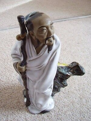 Chinese  clay-pottery madman-figure -ornament,big,3