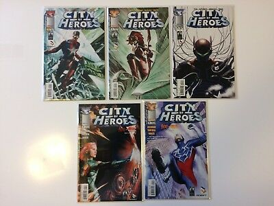 Run Of 5 City Of Heroes #1 2 3 4 5 Top Cow Comics (2005) VF/NM Image Lot